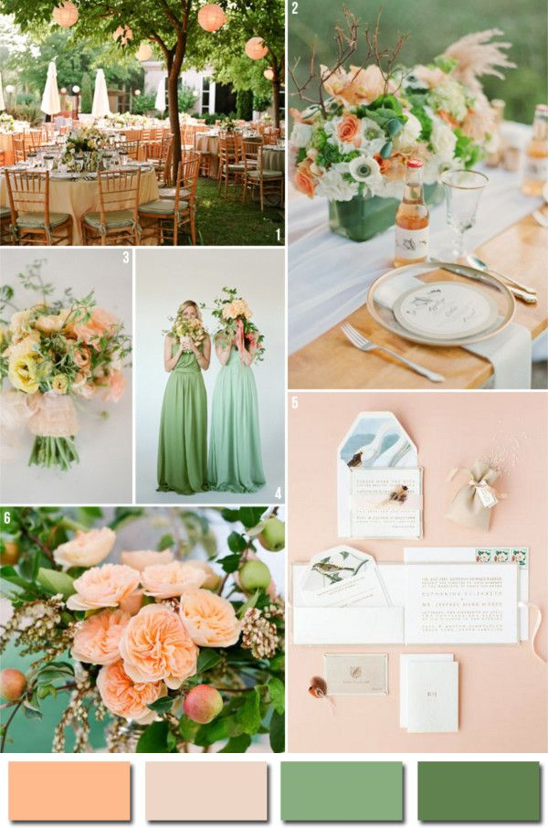 Popular Wedding Colors.Pink Peach And Green 2014 Popular Wedding Color Ideas Marry Lt